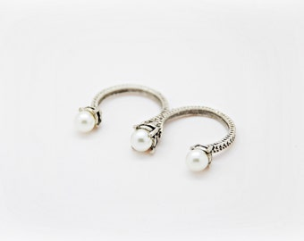 Triple pearl ring - Silver