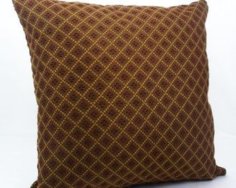 Brown pillow cover, decorative pillow, burgundy pillows, cushion cover, throw pillows sofa, pillows for couch red geometric pillow case