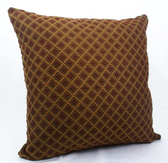 Brown Pillow Cover Decorative Pillow Burgundy Pillows Etsy