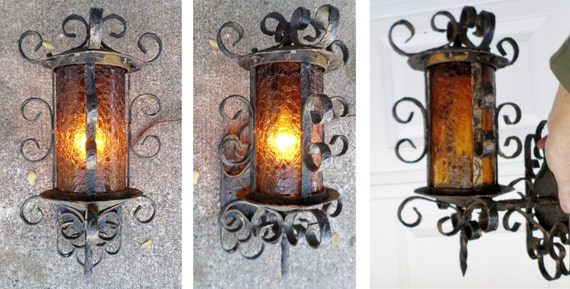 1950 S Vintage Spanish Revival Wrought Iron Wall