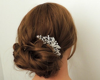 Claire - Pearl and crystal wedding hair comb, bridal hair comb, wedding accessory,  hair accessory, crystal hair clip