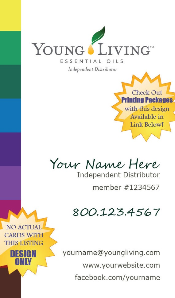 Premade Young Living Business Card Design Spectrum NO