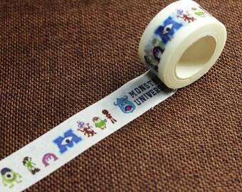 20% OFF 1 Roll Washi Tape - Japanese Washi Tape - Masking Tape - Deco Tape - Washi Paper - Filofax - Monster