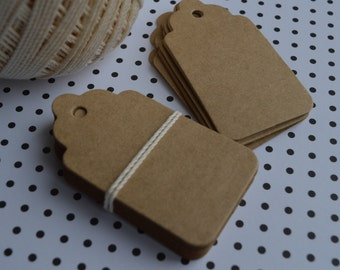 Set of 100 Scalloped tags, Die Cut, Embellishment, Gift Tag, Party Favor Tag, Wish tree