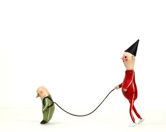 Fred and Frank- sculpture, figurine