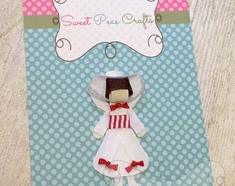"""Mary Poppins Hair Bow Clip Pin Sculpture 3"""" Tall  - Jolly Holiday"""