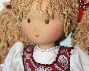 "Waldorf doll classic  ""Berry""-12-13 inches, daughter of a gift"