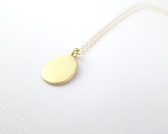 Gold Drop Necklace- Gold Filled Chain- Vermeil Charm