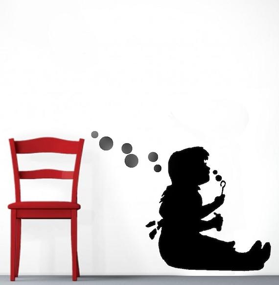 Pochoir de Banksy, fille soufflant des bulles, pochoirs de Banksy ...