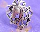 Magical UNICORN Ring Sterling Silver 2.6 Grams Size 5 3/4 Women's Teen Girls Fantasy Fashion Fine Jewelry