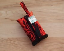 Tissue Holder Kit - travel tissue carrier - fabric tissue cover - gift for teacher - toiletry accessory - first aid tool - flames II