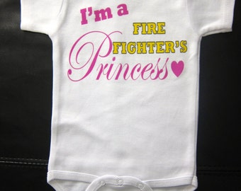 I'm a fire fighter's princess one piece for baby girl novelty gift cute