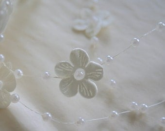 Pearls & Blooms String, Wedding Trim, Ribbon String