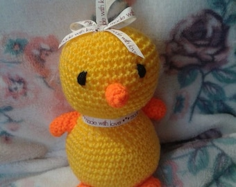 Easter chick hanging plushie/pram/yellow/stuffed