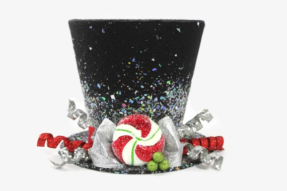 Christmas tree topper top hat tree topper christmas table decoration