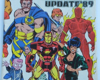 Marvel Universe Update '89 Official Handbook from Human Torch to Mannikin
