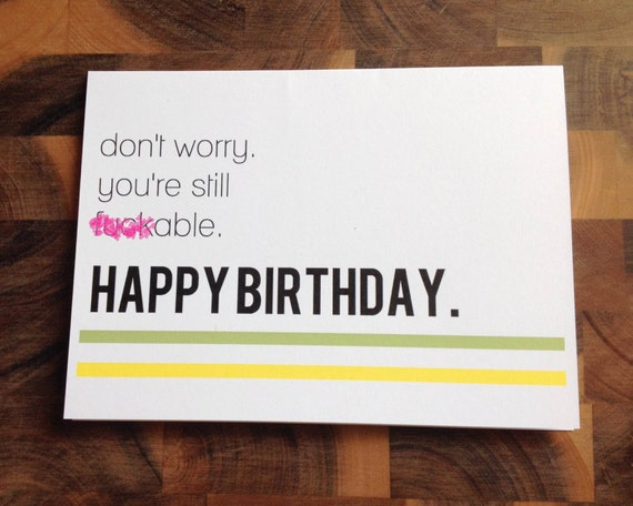 funny birthday card naughty birthday card adult birthday card, Birthday card
