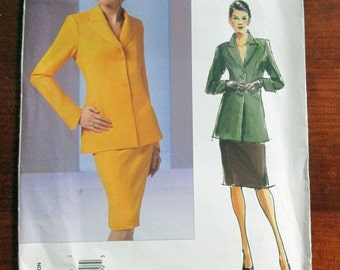 "Vogue Couture fitted Jacket Pencil Skirt sewing pattern Vogue 2887 Size 12 14 16 Bust 34 36 38"" UNCUT FF"
