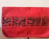 Vintage 1980s Red De'Medici Bijoux Purse Made In Italy