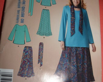 Simplicity 2802 Top Skirt and Sash or Skirt Sewing Pattern - Size 8 - 20 - UNCUT -