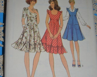 Vintage Style 1196  Misses Dress or PInafore Dress Sewing Pattern - UNCUT - Size 8
