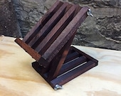 iPad Stand, Tablet Holder, Rustic Wood, Adjustable, iPhone Stand, Wooden iPad Stand, Gift Idea, iPod Holder Kitchen, iPhone holder desk