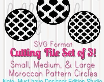 SVG Files Set of 3 Moroccan Circle--SVG Format Only-- Cut Files svg files moroccan svg patterns circle svg