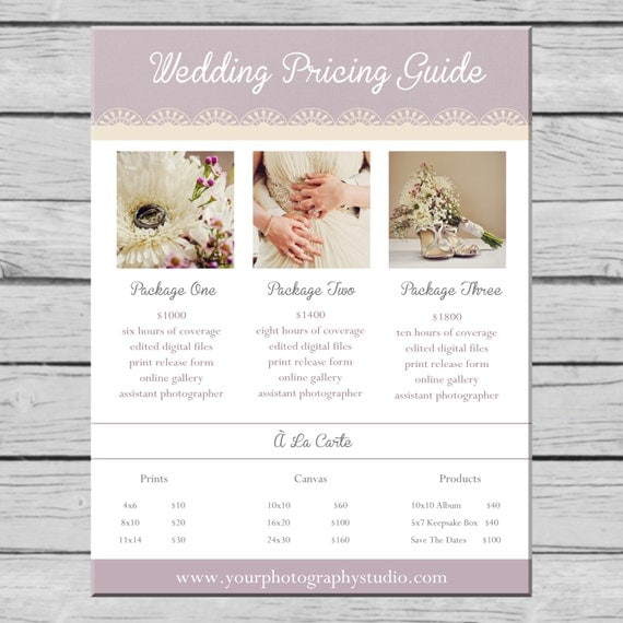 items similar to wedding photography pricing guide. Black Bedroom Furniture Sets. Home Design Ideas