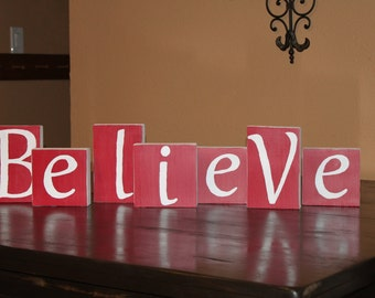 Believe / give thanks  blocks - reversible!