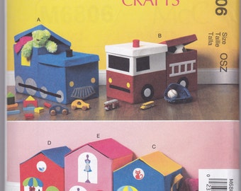 M6806 McCall's Toy Storage Sewing Pattern