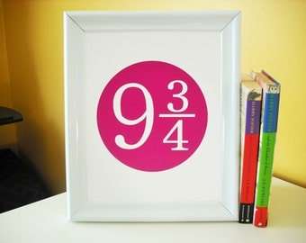 Harry Potter Platform 9 3/4 Custom 8x10 Print