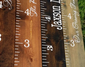 Custom Name Wooden Growth Chart Personalized Name Sign - Custom vinyl decals for wood