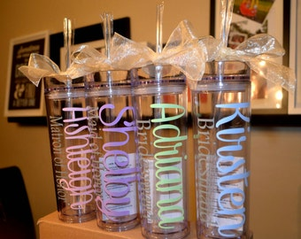 Personalized Tumbler, Bridesmaid Gift, Office Gift, Tumbler ,Bachelorette Party, Personalized Gift, Personalized Water Bottle,Birthday Gift,