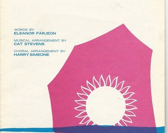 CAT STEVENS Sheet Music - Morning Has Broken - c. 1971 Freshwater Music Ltd.- Four Part Mixed Voice for SATB & Piano - London England