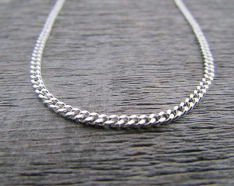 Sterling Silver Curb Chain, 1.5 mm Chain, 24 Inch Chain, Sterling Chain, Sterling Silver Chain, 925 Chain, Italian Silver Chain, Gift Chain