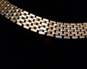 Rare Vintage Gold and Silver Choker with Adjustable Clasps