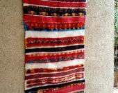 "69""X33"" Vintage Moroccan rug woven using different scraps of used textiles / boucherouite / boucherouette"