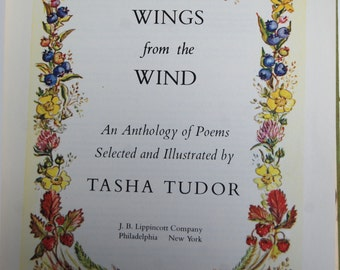 Vintage Book, Wings from the Wind, An Anthology of Poems