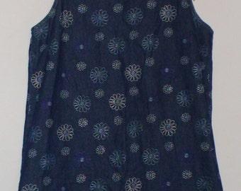 Vintage 90's Denim Daisy Dress!