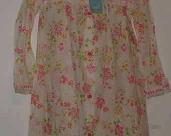 Vintage Barbizon 50's/60's Floral Nightgown and Cover! Never Worn!  With Tags!