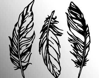 Feathers vinyl decal