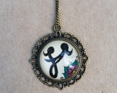 Mother Daugher Necklace Hand drawn Pendant Mother's Day Floral Necklace Henna Love Mehndi Flower Happiness
