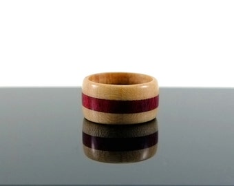 Maple and Purpleheart wooden ring