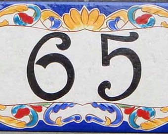 Rustic address door sign, Italian porcelain house number plaque, Sign. Sign for new house, Housewarming gift. Custom house plaque