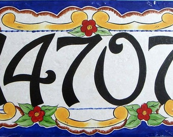 House numbers, house number plaque, house number sign, hand painted Italian house numbers, ceramic house numbers, housewarming gifts, signs