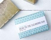 Head-To-Toe Cleansing Bar 'Green Goodness' Anti-Aging ∙ Moisturizing [Vegan ∙ Organic ∙ 100% Natural]