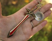 Leona Sword or Shield Quote Locket of the Iron Solari Inspired by League of Legends Keychain or Necklace