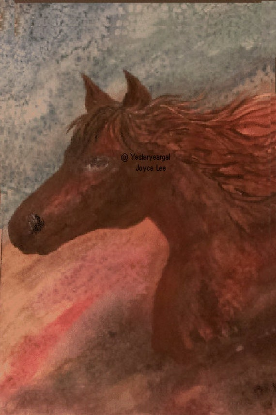 The Loner   Watercolor Art Print  8 x 10   11 X 14  16 X20