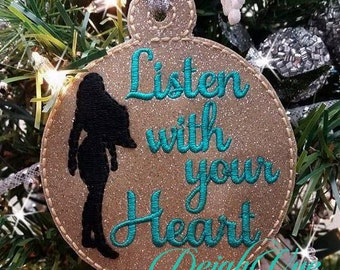 ITH Listen With Your Heart Christmas Ornament
