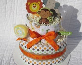 Best Seller/Safari Diaper Cake/Safari Baby Shower/Spring Baby Shower